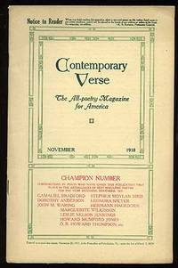 image of Contemporary Verse: November 1918