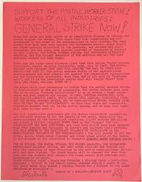 image of Support the Postal Worker Strike! Workers of all industries: General Strike Now! [handbill]