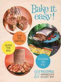 image of 1961 Advertising Cookbook Bake it Easy 17 Recipes Gramother Couldn't Bake