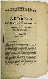 pp. Untrimmed, Very Good. A Jeffersonian plea to defeat the Federalists in upcoming State elections...