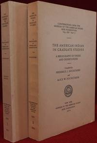 The American Indian in Graduate Studies. A Bibliography of Theses and Dissertations