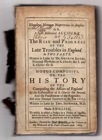Elenchus Motuum Nuperorum in Anglia by  Thomas  Dr. George; SKINNER - 1685 - from Attic Books (SKU: 113736)