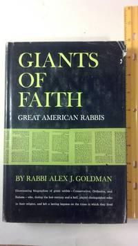 Giants of faith;: Great American rabbis,