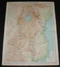 image of Map of Central Africa - Eastern Section from the 1920 Times Survey Atlas (Plate 75) including Lake Victoria, Uganda, Kenya Colony, Tanganyika Territory, Belgian Congo (part), Northern Rhodesia (part), Nyasaland Protectorate, etc