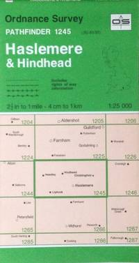 Haslemere & Hindhead Pathfinder map sheet 1245