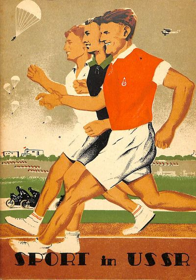Sport in USSR. Cover design by V. Koretsky. Many photo illustrations. See plate 13, Koretsky, The So...