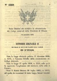 che modifica la circoscrizione dei Collegi elettorali della Provincia di Firenze.