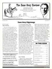 The Zane Grey Review: Vol 12, No. 6; October 1997
