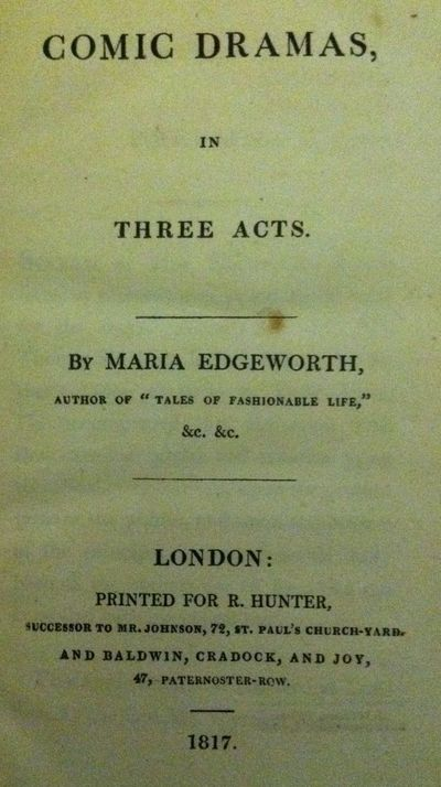 London: R. Hunter, 1817. First edition. First edition. 12mo. Contemporary paper covered boards, half...