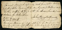 John Van Nostrand signed receipt of payments from John Lefferts, John Lee, John B. Gay and Jesse J. Clapp