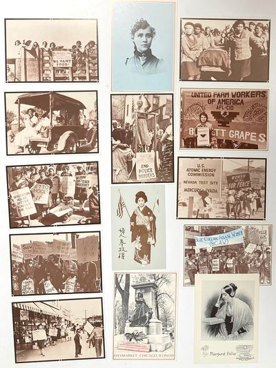Martinsville, IN: Helaine Victoria Press, 1989. Group of 14 photographic postcards of activists and ...