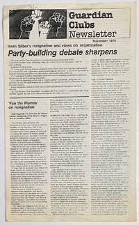 image of Guardian Clubs Newsletter. November 1978