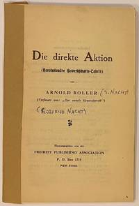 image of Die direkte Aktion (Revolutionãre Gewerkschafts-Taktik)