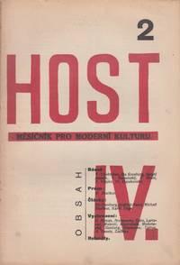 Host: měsičník pro moderní kulturu, ročník [Guest: a monthly journal of modern culture], vol. IV, no. 2 (1924). The issue devoted to new Russian art and avant-garde