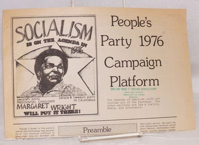 Oakland, CA: The People's Party, 1976. 4p., tabloid newspaper format, evenly toned, else very good b...