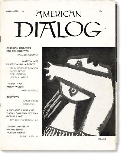 New York: Dialogue Publications, 1966. Staple-bound bi-montly periodical. Single quarto issue; picto...