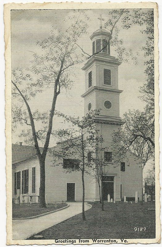 ST. JOHN'S CHURCH, RICHMOND, VIRGINIA, Postcard