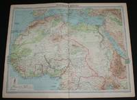 image of Map of Northern Africa from the 1920 Times Survey Atlas (Plate 69) including Morocco, Algeria, Libya, Egypt, Senegal, French West Africa, Nigeria, Cameroon, Uganda, Red Sea, etc