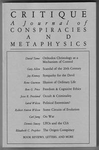 Critique: A Journal of Conspiracies and Metaphysics #23/24 (Fall/Winter 1986/87)