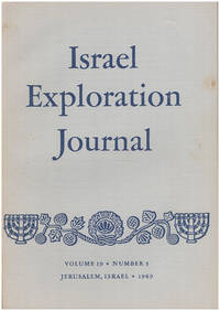Israel Exploration Journal (Vol 19, No. 3, 1969)