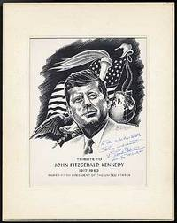 No place: The Artist, 1964. Unbound. Fine. Linocut memorializing Kennedy, a portrait of the Presiden...
