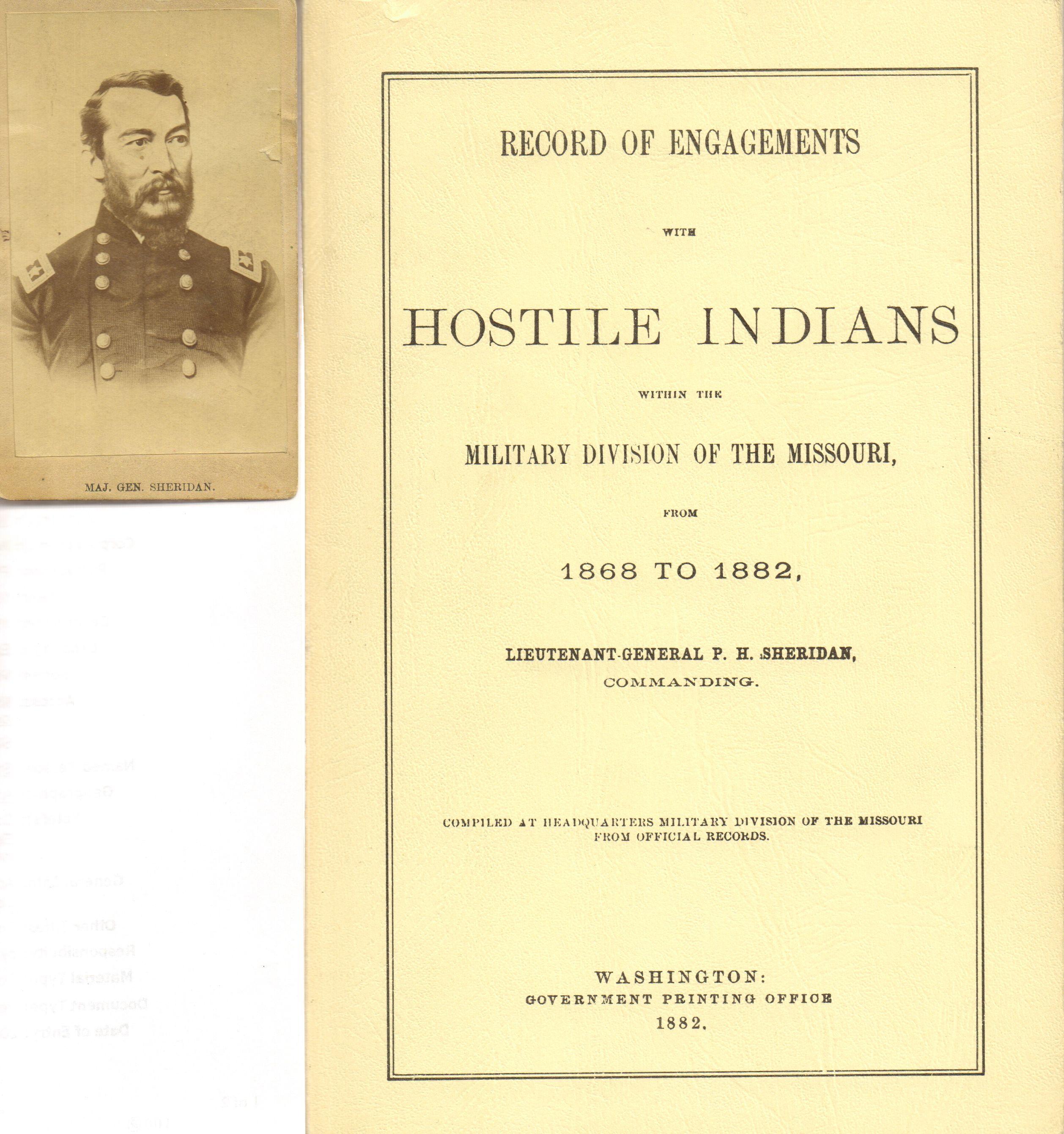 Major General Sheridan Civil War Era Carte De Visite