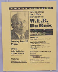 image of Celebrating the 129th birthday of W.E.B. Du Bois: an afternoon of African American people's culture; speaker Joe Sims, Communist Party, USA [event card]