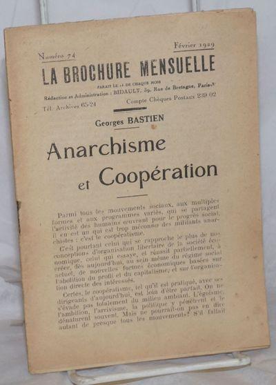 Paris: Groupe de Propagande par la Brochure, 1929. Pamphlet. 36p., stapled wraps, 5x7 inches, evenly...