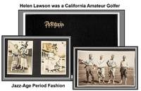 Photo Scrapbook which Contains Clippings Regarding California Amateur Golfer Helen Lawson