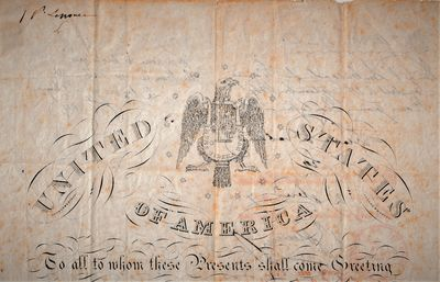 Washington DC: Federal Government, 1847. As issued.. Very good; two small mounting stains to last pa...