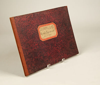 Milano: F. Lucca , 1844. Oblong folio. Md-brown cloth-backed red marbled boards, octagonal paper lab...