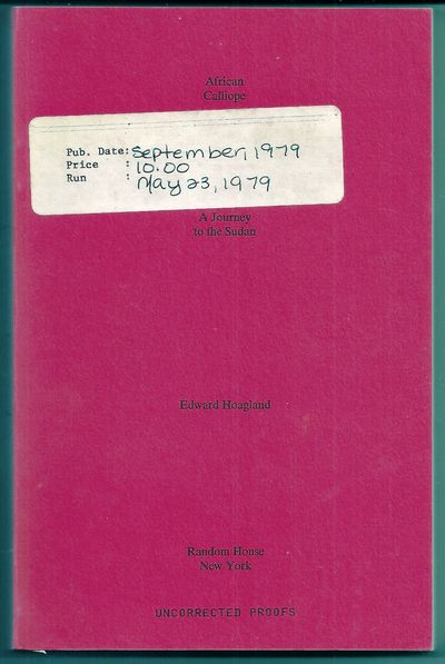 New York: Random House, (1979). First Edition. Wraps. Publisher's sticker on front cover and author'...