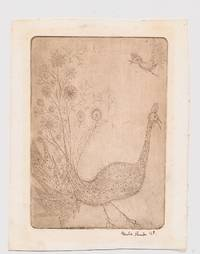 Etching Signed, of a fantastical bird, 8vo, 1968