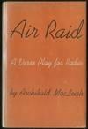 image of Air Raid: A Verse Play for Radio