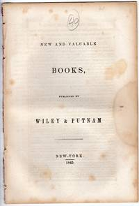 New and valuable books, published by Wiley & Putnam