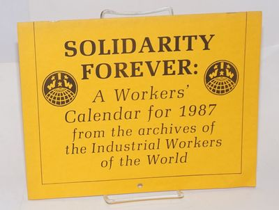 Chicago: Industrial Workers of the World, 1986. 26p., wraps, 8.5x11; illustrated with labor-themed i...