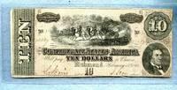 1864 Confederate States 10 dollar Note