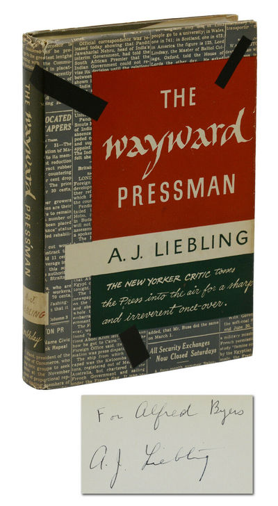 Garden City, NY: Doubleday & Company, 1962. First Edition. First edition. Signed by A. J. Liebling, ...