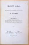View Image 1 of 3 for Physique sociale ou essai sir le developpement des facultes de l'homme. 2 vols. in 1 Inventory #44284