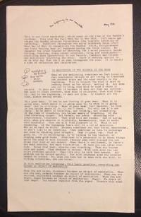 The Beginning to See Newsletter. May 1981