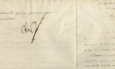 23/09/1809. Napoleon Bonaparte A rare full, signed order by BonaparteIn 1809, a formation known as t...