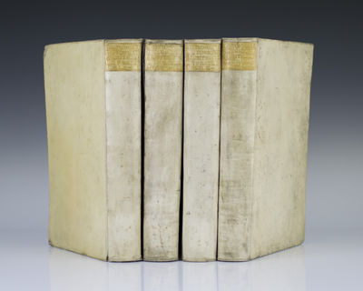 Chez, 1740. Folios, 4 volumes. Contemporary full vellum. In very good condition. An attractive set o...
