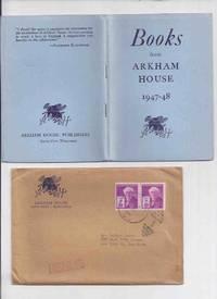( MAYS # 19 / HERRON # 23 ) ARKHAM HOUSE Ephemera in original mailing envelope::  Books from Arkham House 1947 - 1948 ( Stock List /  Catalog / Catalogue )