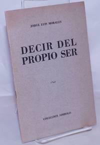image of Decir del Propio Ser