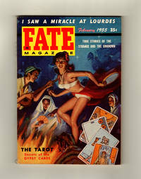 image of Fate Magazine - True Stories of the Strange and The Unknown. February, 1955. Lourdes Cure, Devil Cat, Reincarnation, Gypsy Tarot, Vikings in Oklahoma, Telepathy, Mystery Tomb of Kalev