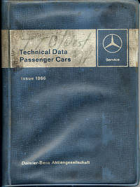Technical Data - Passenger Cars, Issue 1966 Mercedes by Daimler-Benz [Mercedes] - Paperback - 1966 - from Milliway's Books (SKU: W3.005)