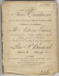 [Op. 8]. Trois Quatuors pour deux Violons Alto et Violoncelle composés et dédiés à Mr. Antoine Grassi... Opéra 8. Prix 9 livres. [Parts]