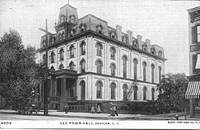 image of Old Town Hall, Jamaica L.I., NY on Pre-1908 Undivided Reverse Postcard