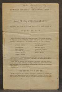 BOWDOIN COLLEGE -- BRUNSWICK, MAINE | SECOND MEETING OF THE CLASS OF 1844, HOLDEN AT THE TONTINE...