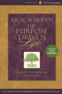 image of Purpose Driven Life Study Guide: A Six-Session Video-Based Study for Groups or Individuals (Purpose Driven Life, The)